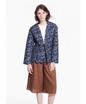 Mango MNG Suit Collection Caftan Kaftan Geisha Blazer Jacket Navy Blue S... - $65.09