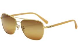 NEW COACH Gold Amber Rhinestone Jewel Flower Sunglasses HC7073 - $99.99