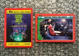 1991 Topps Teenage Mutant Ninja Turtles TMNT II Movie Trading Card Lot: #1 & #11 - $3.13