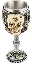 Steampunk Skull, 3D Novelty Chalice/Goblet, Stainless Steel Liner SU58 - $19.95