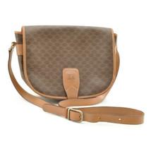 CELINE Macadam Shoulder Bag Brown PVC Leather Auth 8848 - $110.00