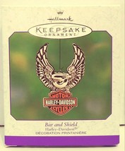 2000 Hallmark Keepsake Harley-Davidson Bar and Shield Ornament QEO8544 - $20.00