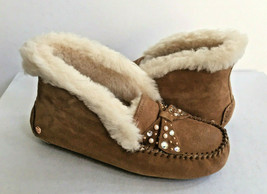 Ugg Alena Brilliant Chestnut Shearling Mocassin Slippers Us 5 / Eu 36 / Uk 3.5 - $92.57