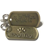 Personalized Military Style Dog Tag with Paw Print - $7.99