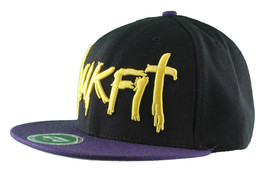 Trukfit Mens Black Purple Yellow Galaxy Baseball Strapback Hat Cap T1208H09 NWT image 2