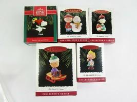 5 Lot Hallmark Keepsake Ornaments Peanuts Gang Snoopy Woodstock Lucy 199... - £29.89 GBP