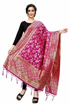 Indian Women's Pure Kora Silk Banarasi Dupatta/Chunni Beautiful Wrap Sha... - $17.84