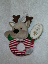 CARTERS MY FIRST XMAS PRECIOUS FIRSTS REINDEER HOLIDAY BABY INFANT RING ... - $24.74
