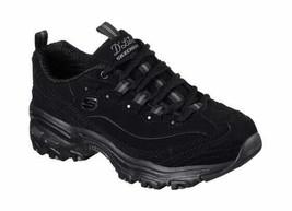 Skechers Women's D'Lites Play On Training Shoe Black Walking Shoes - $91.44