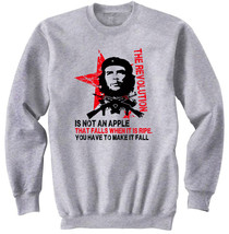 Che Guevara An Apple Quote - New Cotton Grey Sweatshirt - $33.25