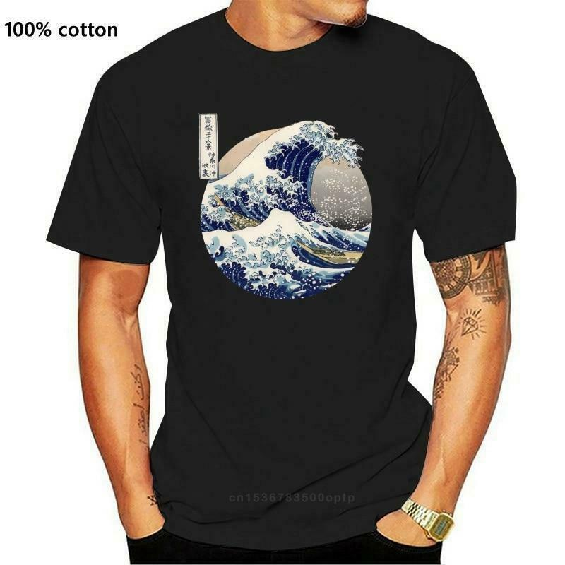 Kanagawa Japanese The great wave T shirt Men Size S-5XL - SHip From USA
