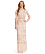 Adrianna Papell Women's Short Sleeve Blouson Beaded Gown - $139.38+