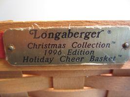 Vintage 1996 Longaberger Christmas Collection 1996 Edition Holiday Cheer Basket image 5