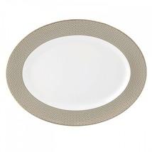 Waterford Lismore Diamond Oval Platter 15.5in Bone China - $189.34