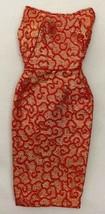 Vintage Barbie Golden Elegance #992 Red & Gold Brocade Dress  312-16 - $48.00