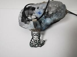Handmade Stainless Steel Cat Pendant Necklaces Medallion Animal Amulet - $14.00