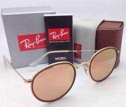 Neu Ray-Ban Ausklappbar Sonnenbrille RB 3517 001/Z2 Gold Rahmen mit /Braun /Pink