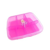 Travel Portable Kit Dispenser Box Portable Medicine Box Pink - $16.27