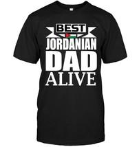 Mens Best Jordanian Dad Alive Fathers Jordan Flag Gift T Shirt - $17.99+