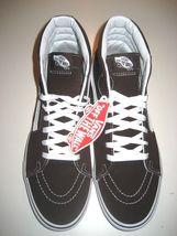 Vans Mens Sk8-Hi Chocolate Torte True White Canvas Suede Skate shoes Size 9 NWT image 3