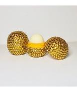 gold eos lip balm. Tropical Mango Flavour. Crystallised Bling rhinestone... - $16.42