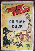 *Paul Terry's TERRY-TOONS: THE ORPHAN DUCK (1939) Linen-Backed One-Sheet - $195.00
