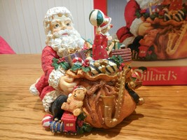"New Santa Music Box ""Toy Land"" Figurine Revolving Clown Dillard's Christmas - $10.99"