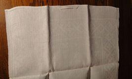 Large vintage antique Irish linen damask hand towel Celtic clover tea dish 40X17 image 10