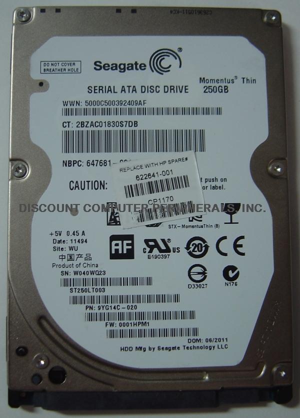 Seagate st250lt003