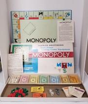Vintage Monopoly Game Original 1961 Parker Brothers Complete Good Shape  - $29.02