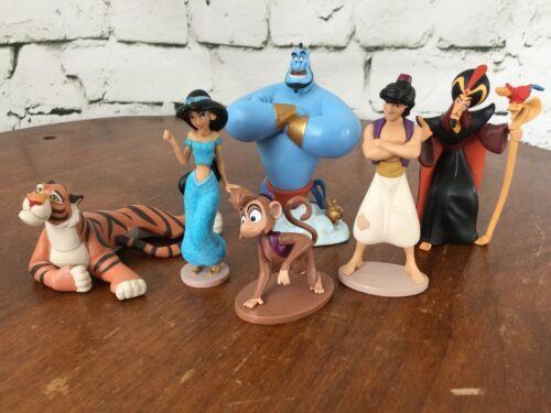Disney Store Aladdin Diamond Edition Figurine Playset 100% Complete 6 Pieces