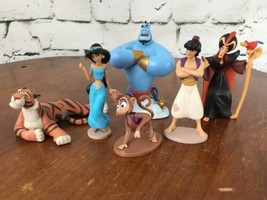 Disney Store Aladdin Diamond Edition Figurine Playset 100% Complete 6 Pi... - $24.74