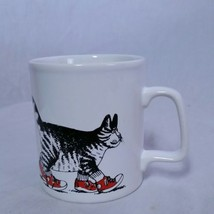 VTG B Kliban Cat Mug Coffee Cup Sneakers Kiln Craft 80s Kitty Walking En... - $29.69