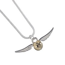 Harry Potter Silver Plated Golden Snitch Necklace - $12.30