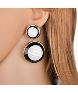 BAHYHAQ - Handmade Different Size Circle Acrylic Earrings Vintage Stud E... - $4.33