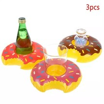Inflatable Donut Drink Can Cup Holder ( 3 pcs ) Hot Tub , Swimming Pool ... - $9.90