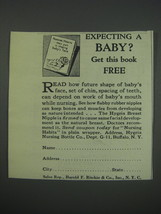 1930 Hygeia Nursing Bottle Co. Ad - Expecting a baby? - $14.99