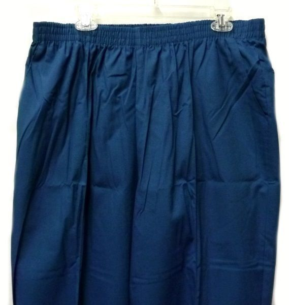 3271c773ea6 SuiteStyles Medline 2XL Caribbean Blue Elastic Waist Crease Legs Scrub Pants  New