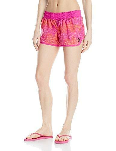 Hurley Junior's Dri Fit 3.5 inch Beachrider Runner Short, Pink, Large