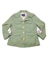 American Eagle Womens Casual Cotton Green Blazer Jacket Size Small  - $14.49