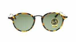 Ray Ban Men's Sunglasses RB2447 1157 Havana With Green Lens Round 49mm Authentic - $125.13