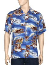Hilo Hattie™Blue Hawaii Aloha Shirt Matches Woman's Blue Hawaii MuuMuu - $49.45+