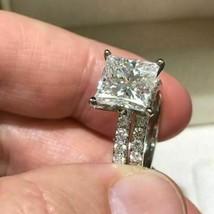 4.35 CT Princess Cut Diamond 925 Sterling Wedding Engagement Bridal Ring... - $120.02