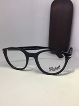 2a69558626 New Authentic Persol P 3153-V 95 Black Eyeglasses Eye Wear Frame Rx Italt 48