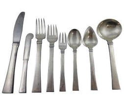 Bell by Hans Hansen Danish Sterling Silver Flatware Set Service 103 Pcs ... - $7,995.00