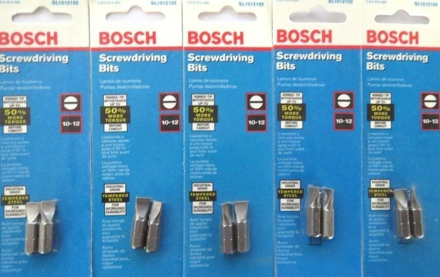 Primary image for Bosch SL1012102 10-12 Slotted Screw Tips 5 Packs USA