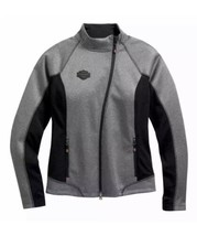 Harley-Davidson Mid-Layer Soft Shell Jacket Marled Gray 98565-16VW Women... - $54.45