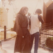 Old Vintage Photograph Man From Back & Creepy Monk Halloween Costume - $5.94