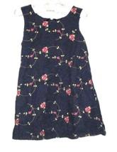 GIRLS NAVY BLUE PRINTED DRESS SIZE 2T - $3.00