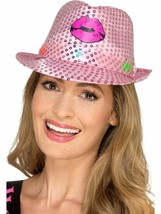 Light Up Sequin Hen Party Trilby Hat Pink, Hen & Stag Night, One Size - $10.88